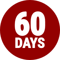 60 days money back guarantee